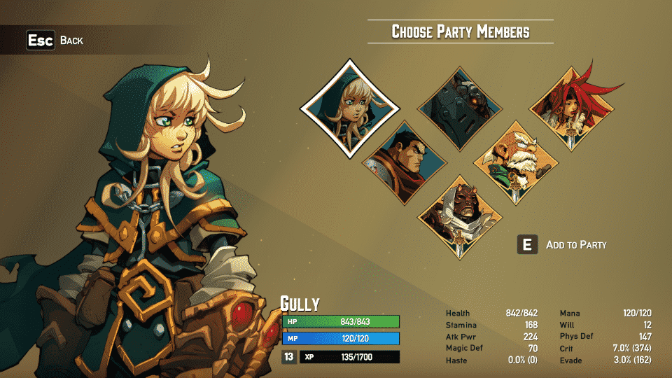 bcnw Game Review: Battle Chasers Nightwar