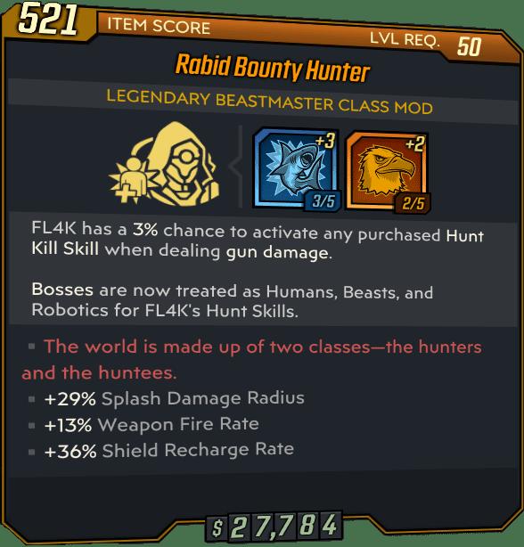 borderlands 3 bounty hunter