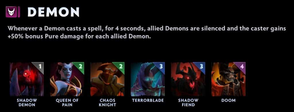 dota underlords tier list demon