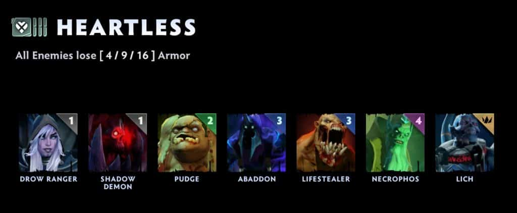 dota underlords heartless