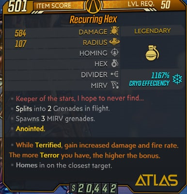 borderlands 3 best grenades hex