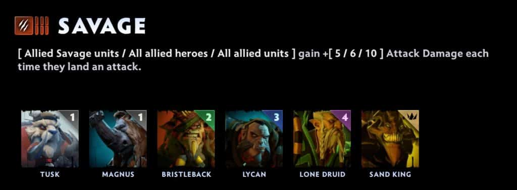 dota underlords tier list savages