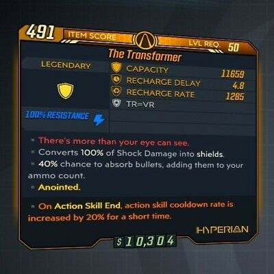 borderlands 3 best shield transformer