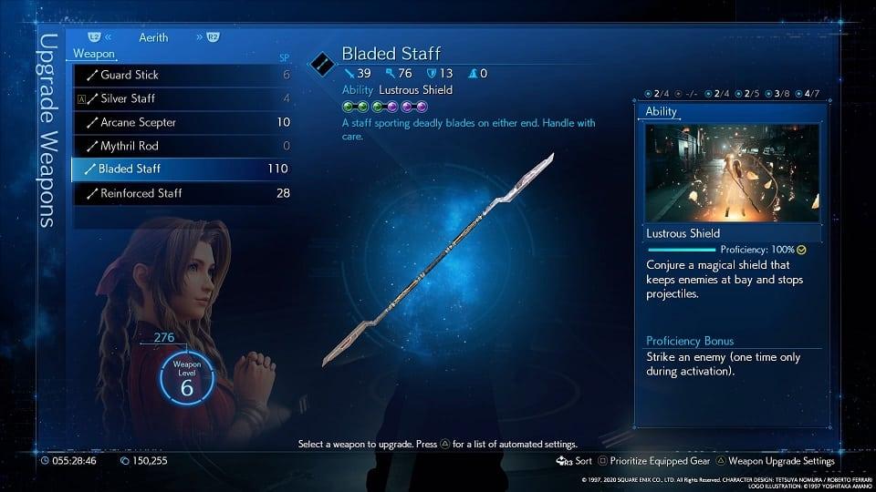 bladed staff