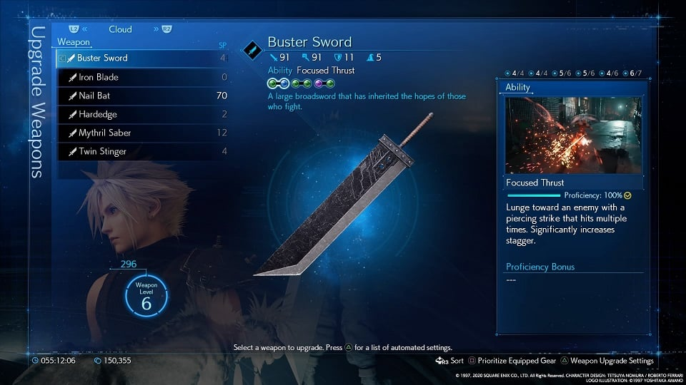 final fantasy 7 remake buster sword