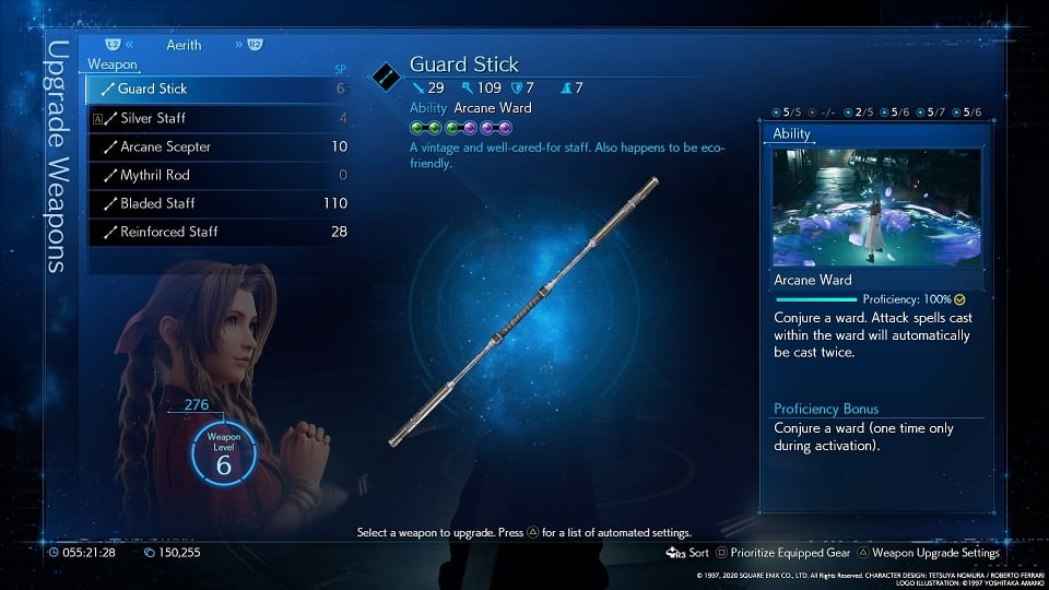 final fantasy 7 remake aerith weapons guard stick