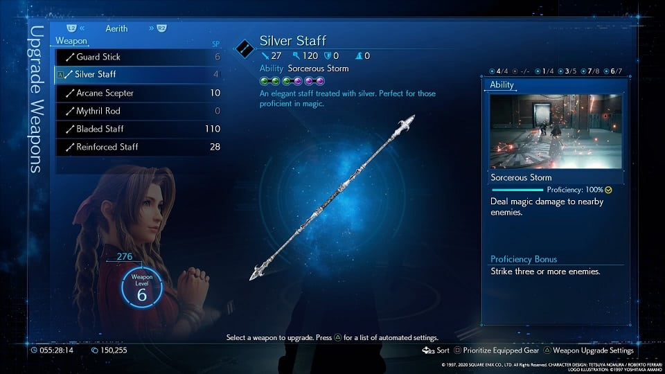 final fantasy 7 remake silver staff