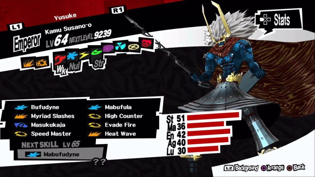 persona 5 royal yusuke kamu susano-o