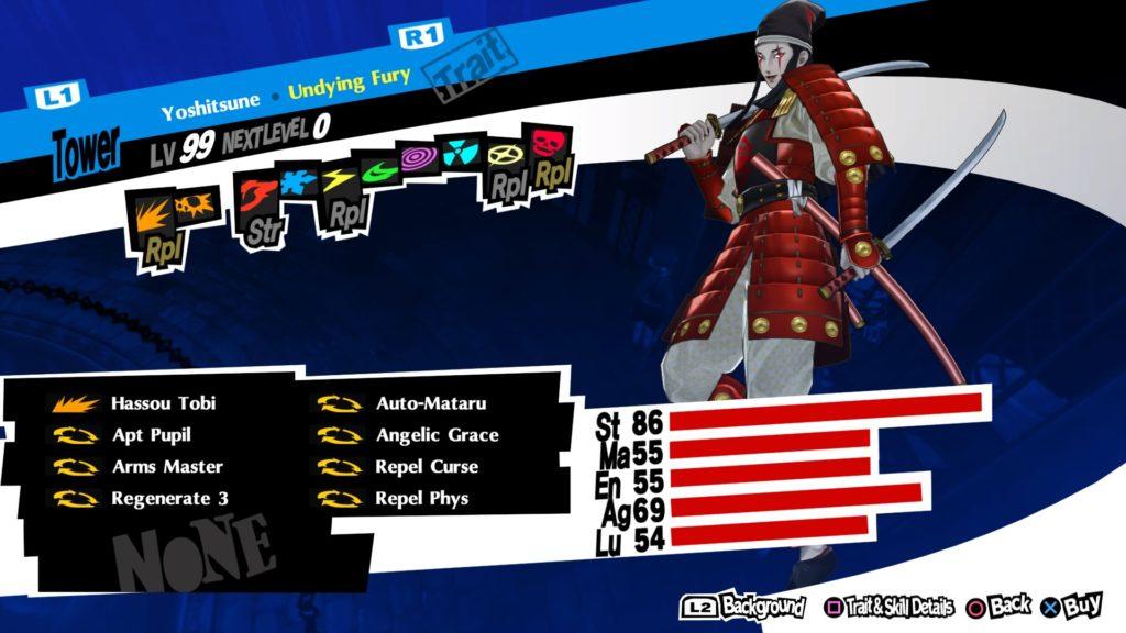 persona 5 royal best personas yoshitsune