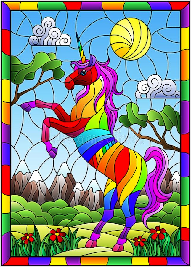 stained glass unicorn spiritual nihilism