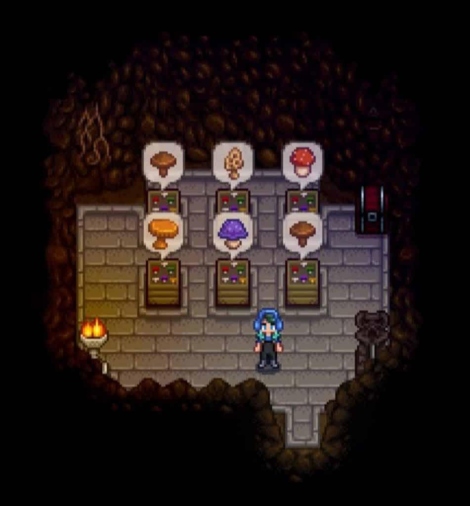 stardew valley mushrooms or bats cave