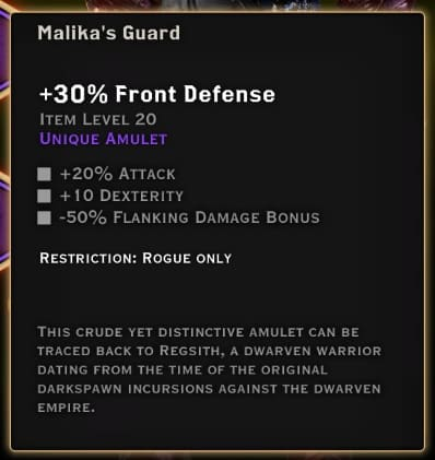 dragon age inquisition best rogue equipment malika's guard