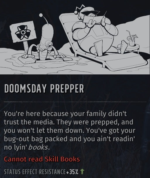 wasteland 3 quirks doomsday prepper