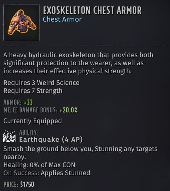 wasteland 3 builds exoskeleton armor
