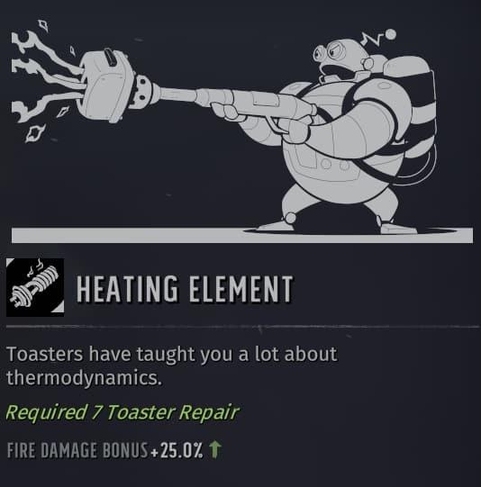 wasteland 3 builds heating element