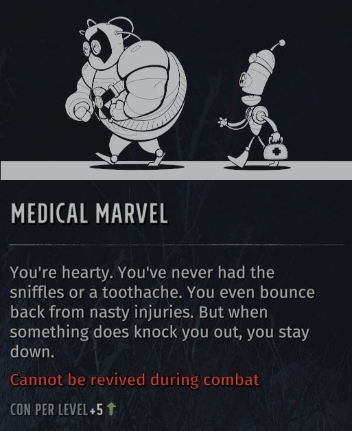 wasteland 3 quirks medical marvel