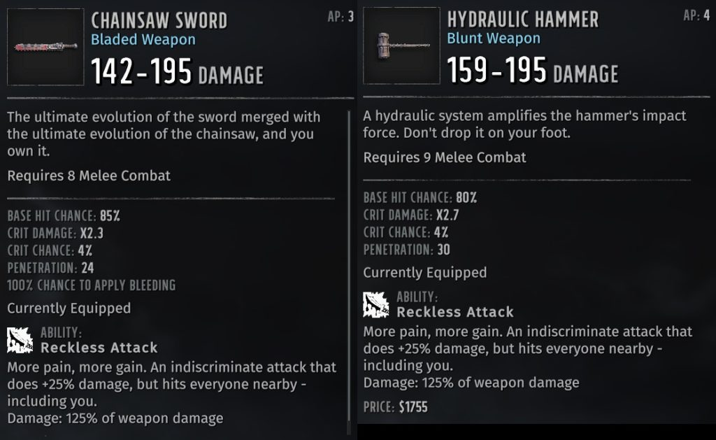 best wasteland 3 weapon types