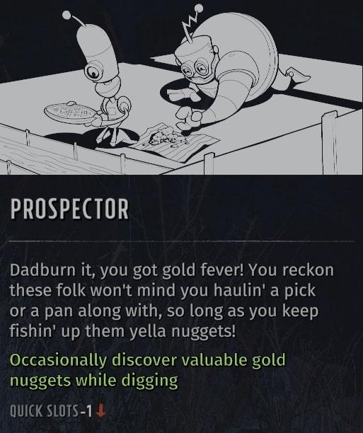 wasteland 3 quirks prospector