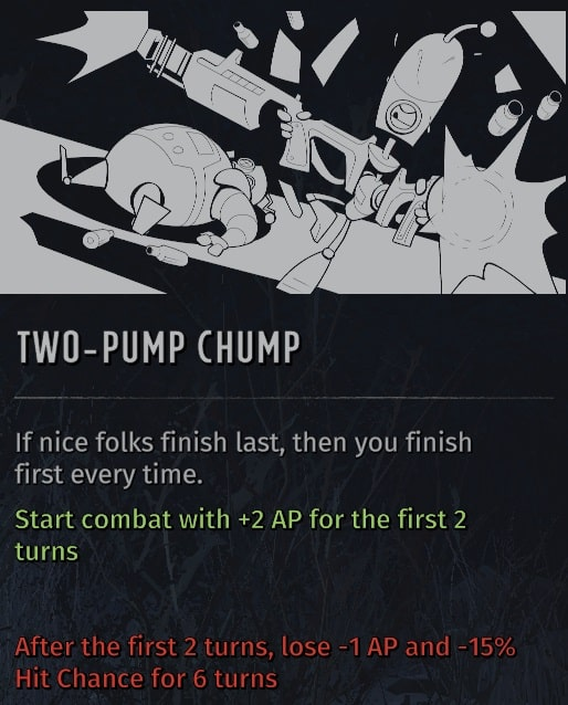 wasteland 3 quirks two-pump chump