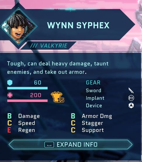 best star renegades characters valkyrie