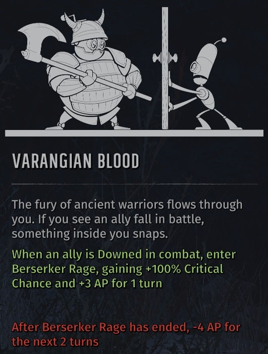 wasteland 3 quirks varangian blood