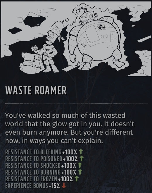 wasteland 3 quirks wasteroamer