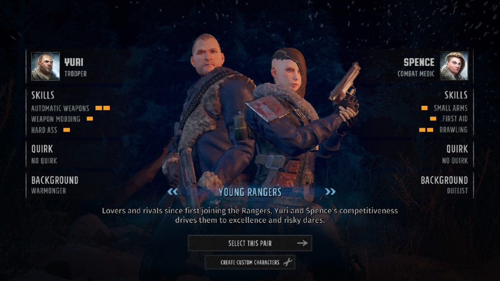 wasteland 3 beginner tips premade characters