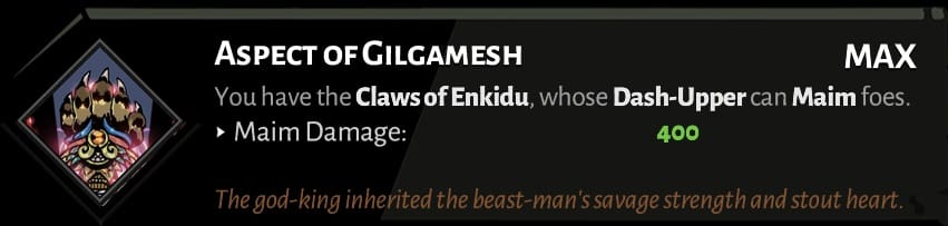 fist aspect of gilgamesh best hades aspects