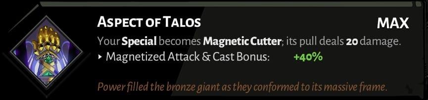 fist aspect of talos best hades aspects
