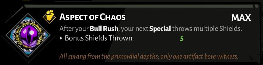 best hades shield aspects chaos