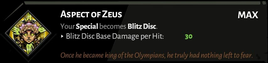 best hades shield aspects zeus
