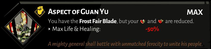 spear aspect of guan yu best hades aspects