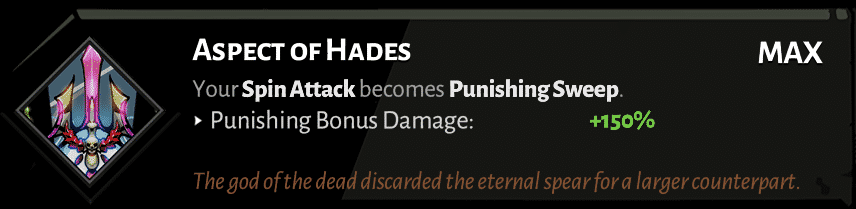 spear aspect of hades best hades aspects