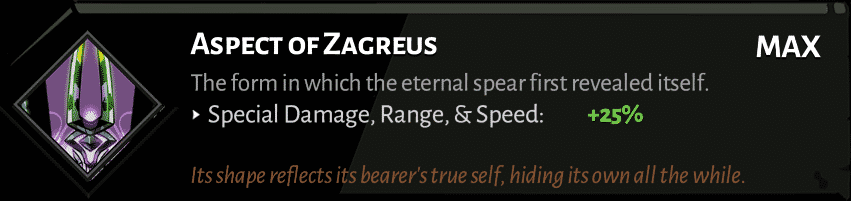 spear aspect of zagreus best hades aspects