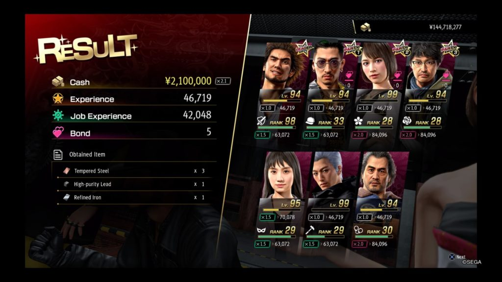 yakuza like a dragon farming battle arena level 30