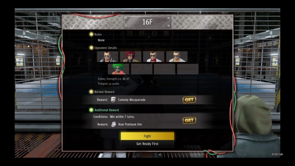 yakuza like a dragon battle arena guide floor 16