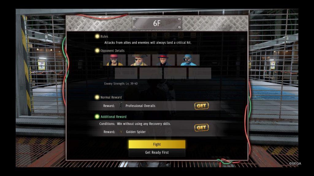 yakuza like a dragon battle arena guide floor 6