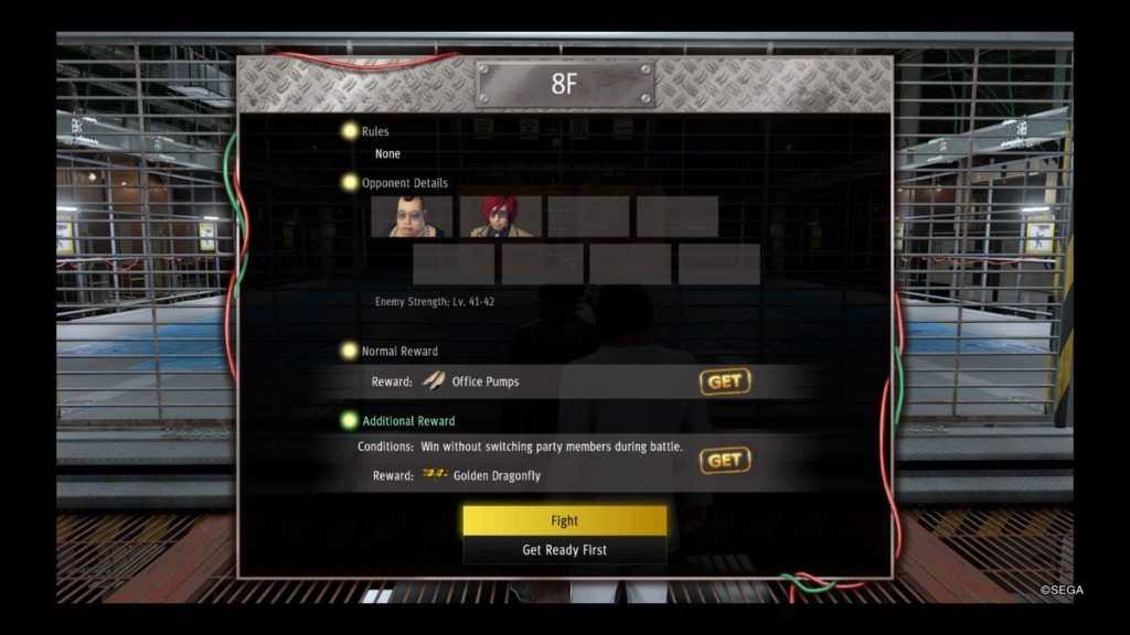 yakuza like a dragon battle arena guide floor 8