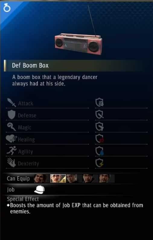 yakuza like a dragon breaker accessory def boom box