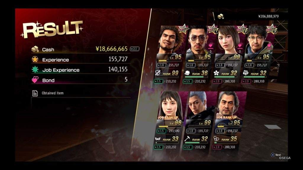 yakuza like a dragon farming final millennium tower money