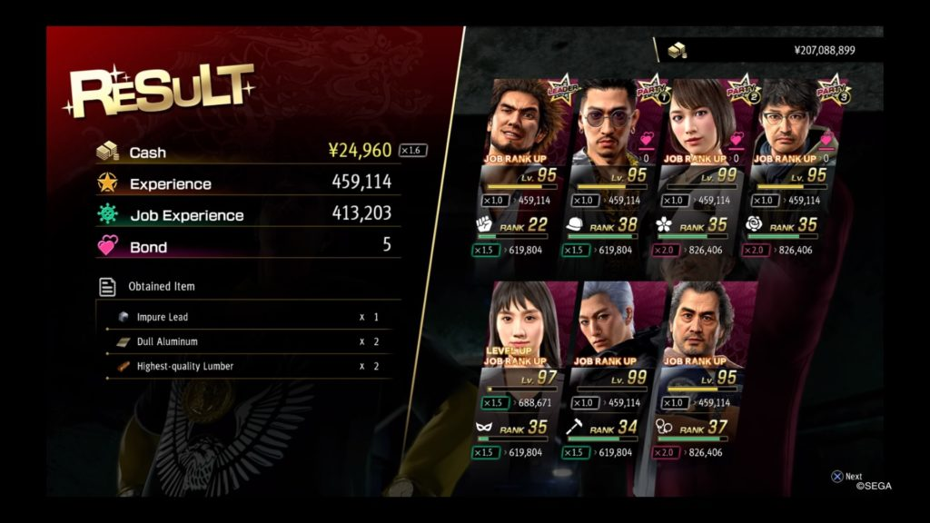 yakuza like a dragon farming infested vagabond experience