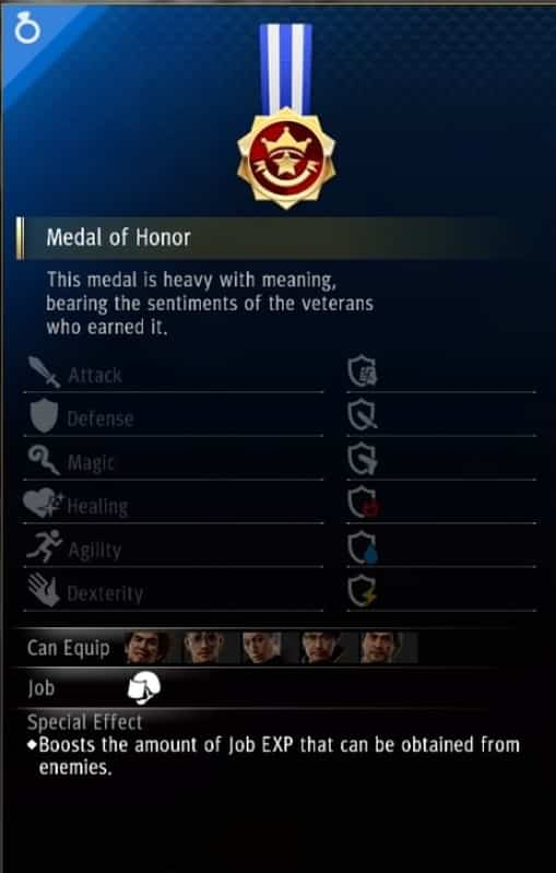 yakuza like a dragon enforcer accessory medal of honor