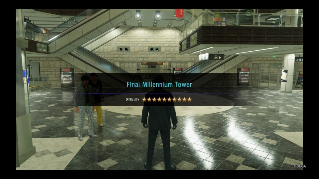 yakuza like a dragon farming final millennium tower