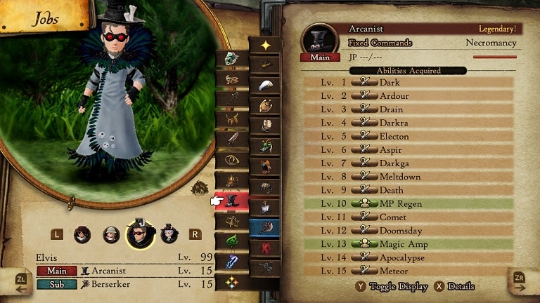 bravely default 2 jobs arcanist