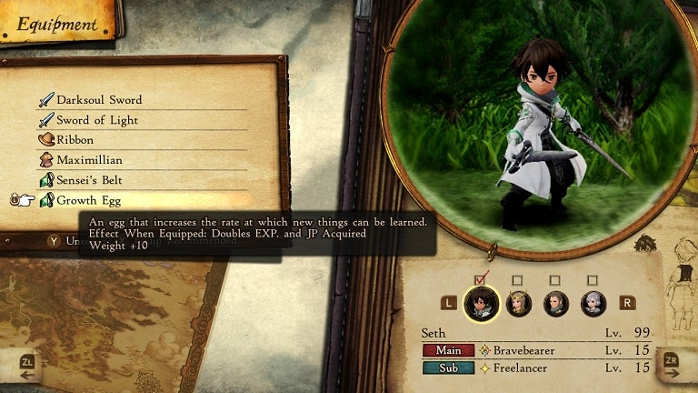 bravely default 2 leveling guide growth egg