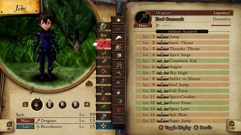 bravely default 2 jobs dragoon
