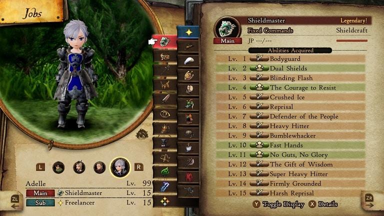 bravely default 2 jobs shieldmaster