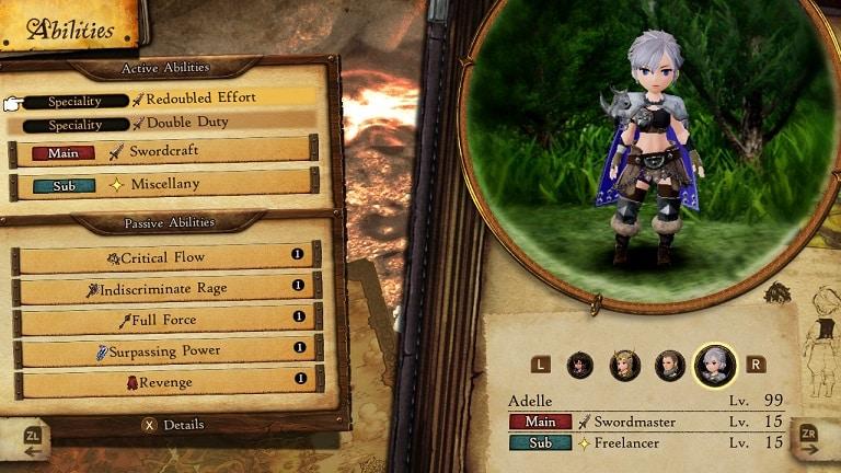 best bravely default 2 job combos swordmaster/freelancer