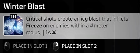 best outriders weapon mods winter blast