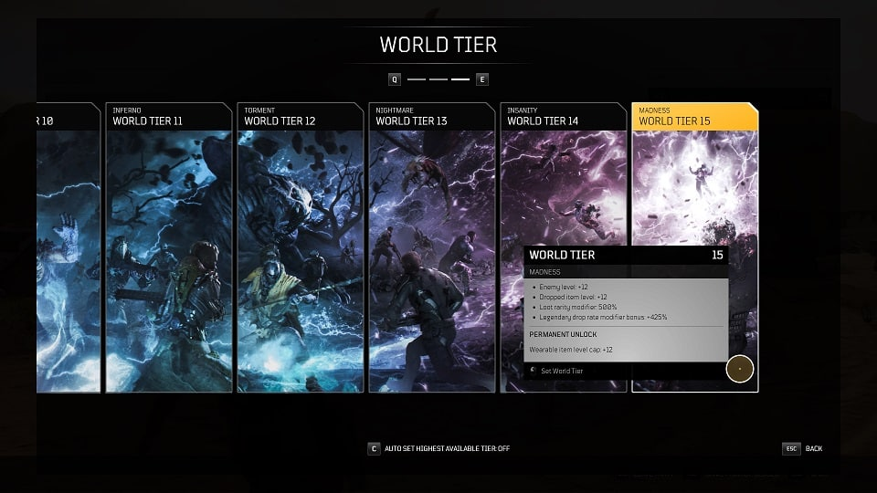 outriders tips for beginners world tier